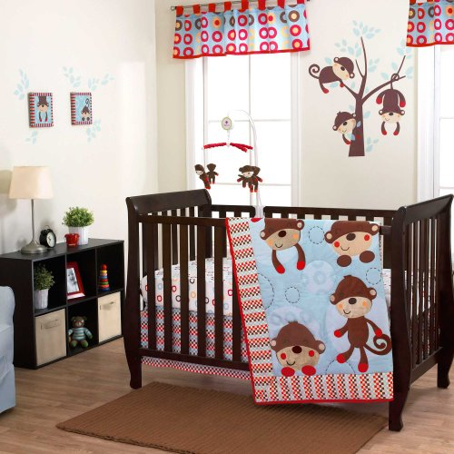 Max 3 Piece Baby Crib Bedding Set By Belle front-513976