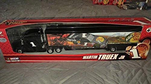 Martin Truex #1 Bass Pro Shop Tracker Boats Dale Earnhardt Inc DEI Hauler Transporter Trailer Rig Semi Tractor Truck Winners Circle