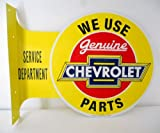 Chevrolet Genuine Parts and Service Double Sided Vintage Style Flange Sign