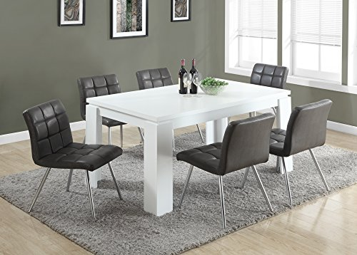 monarch specialties white hollow core dining table     furniture tables kitchen room