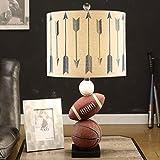 Guo Kinder-Tischlampe Moderne Kreativität Einfache Basketball Tischlampe Schlafzimmer-Augen-Learning Personality Boy amerikanische Nachttischlampe ( farbe : # 1 )