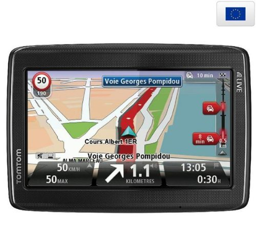 tomtom go live 825 europe 45 info trafic gps etui carbon taille l gps auto. Black Bedroom Furniture Sets. Home Design Ideas