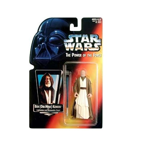 Star Wars: Power of the Force Red Card Ben (Obi-Wan) Kenobi with Short Lightsaber Action Figure - 1