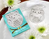 """Kate Aspen """"Happy and Wise"""" Brushed-Metal Owl Bookmark"""