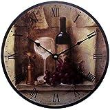 Geneva 12-Inch Wine Wall Clock