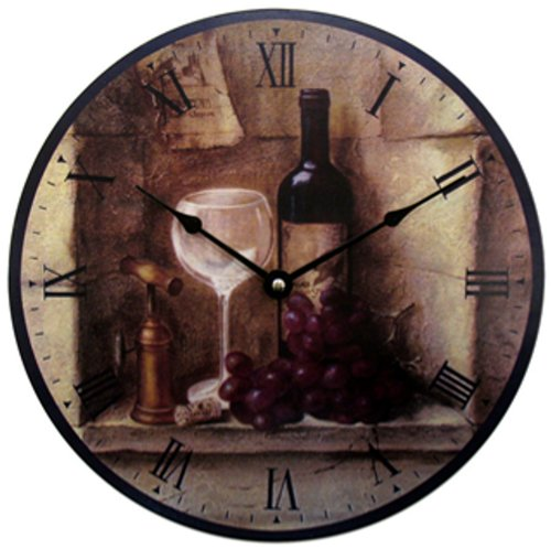 Geneva 12-Inch Wine Wall Clock