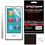 [Pack of 5] TECHGEAR� CLEAR LCD Screen Protector Guards With Cleaning Cloth for Apple iPod Nano 7 & Nano 8 [7th & 8th Generations]