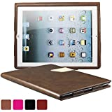 KEVENZ Ultra Thin Magnetic Leather Cover & Back Case For Apple iPad 2 / iPad 3 / iPad 4 - Purplish Red - K405
