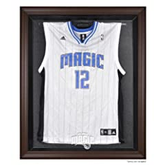Orlando Magic Brown Framed Logo Jersey Display Case by Sports Memorabilia