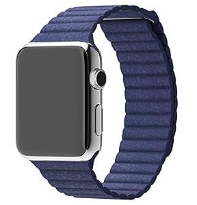 Piel Hensych® la hebilla magnética Velcro correa para Apple Watch 38 mm/42 mm por Hensych