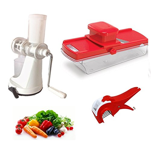 Vian Combo Of Fruit & Vegetable Juicer With Multiple Slicer & Cute Vegetable Cutter