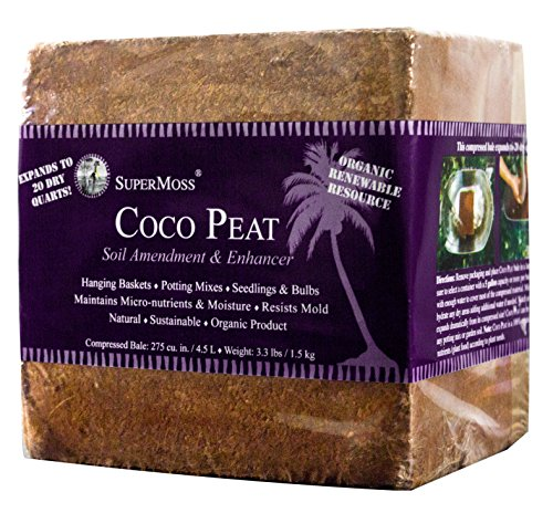 Super Moss 23290 Coco Peat Bale, 1.5 Pounds (Succulent Baskets compare prices)