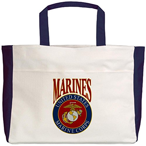 Royal Lion Beach Tote (2-Sided) US Marines Marine Corps Emblem