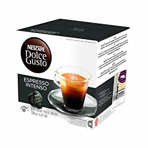 Nescafe Dolce Gusto Ground Coffee, Espresso Intenso, 16 Count (Pack of 3)