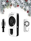 Mister for Patio, Travel, Outdoors, Beach, Picnics, Hiking, Warm Days - Water Misting Fan (Black) by JZK