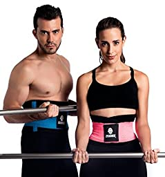 Tecnomed Best Adjustable Waist Cincher Workout Belt Burns Fat Faster Plus Instantly Slims Waist and Moves with You to Provide Critical Lower Back and Core Support for Lifting and Workouts PurpleM