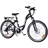XB-305Li Lithium Electric Step Thru Mountain Bicycle, Black