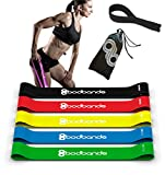 BodBands 5 Exercise Resistance Bands with Door Anchor and Access to Workout Videos Online, Instructional Booklet and Carrying Bag
