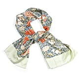 William Morris 'Cray' Silk Scarf||EVAEX