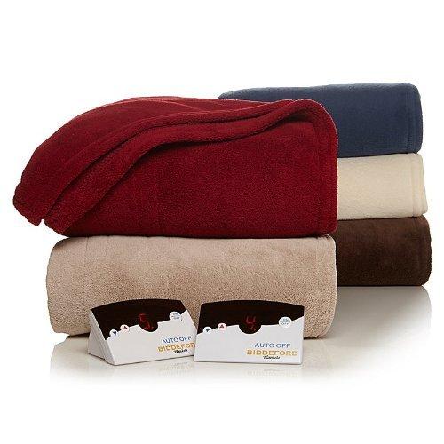 Biddeford 2024-905291-700 Heated Knit Microplush Blanket, King, Taupe