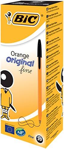 bic-stylo-a-bille-orange-pointe-08-mm-trait-02-mm-noir-ref-1199110114-lot-de-20-parent-box-x-20-noir