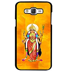 Fuson Premium Goddess Metal Printed with Hard Plastic Back Case Cover for Samsung Galaxy J7