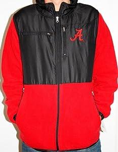 Alabama Crimson Tide NCAA 2013 Poly Dobby Full Zip Polar Fleece Jacket - Red by Genuine Stuff