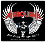 Airbourne Skull Wing no guts no glory logo new decal sticker (10cm x 9cm)