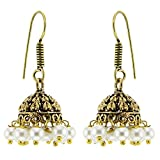 Kaizer High Quality German Silver Jhumki Earring for Women Girls (Gift) -DS-137