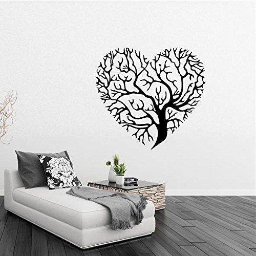 nero-ramo-di-albero-a-forma-di-cuore-wall-mural-art-sticker