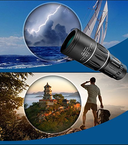 Lowest Price! Monocular, EverPlus 16x52 Dual Focus Monocular Telescope/Monocular Scope for Hunting, ...