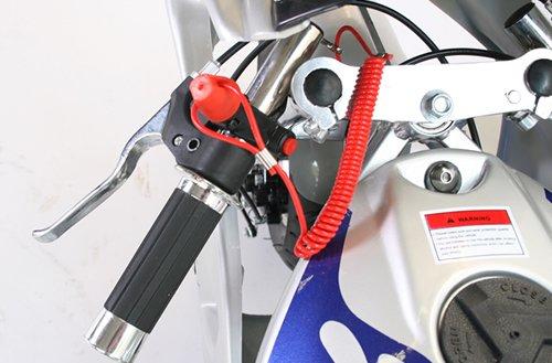 Pocketbike PS77 49cc, Kinderbike, Rennbike, Dirtbike, Mnibike, Schwarz-Rot-Weiß -