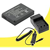 Canon PowerShot Elph SD450 Digital Camera NB-4L Battery And Wall Charger With Car Charger Adapter DavisMAX NB4L...