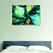 House Things Abstract Canvas Print 29 X 20.56, Inches Wall Décor Art