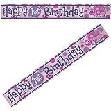 1st Birthday Ladybug Foil Banner