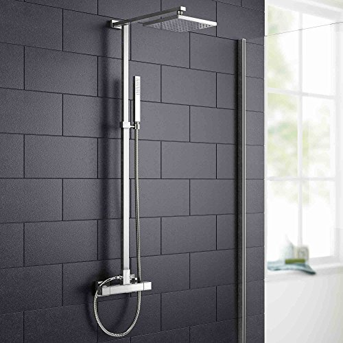 Square Bar Mixer Shower Set Thermostatic Valve with 7