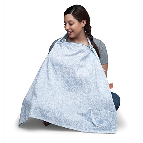 Boppy Nursing Cover, Blue French Swirl