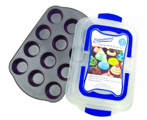ENTENMANNS BAKEWARE 12-Cup Cupcake/Muffin Pan with Carrier Cover