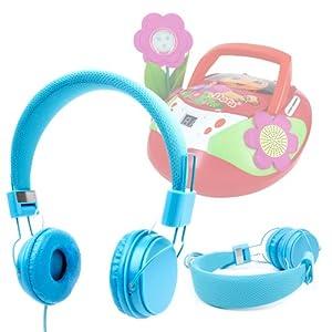 casque audio duragadget pour enfant pour radio lecteur cd mp3 dora de videojet. Black Bedroom Furniture Sets. Home Design Ideas