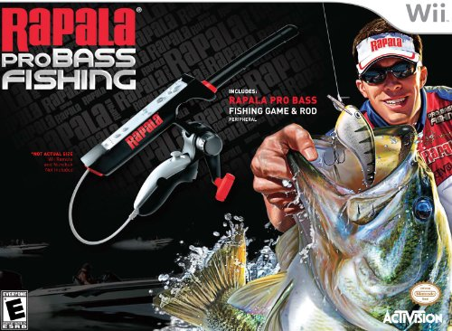 Rapala Pro Bass Fishing with Rod Peripheral – Nintendo Wii