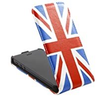 buy Italkonline Apple Iphone 5S World Flag Blue White Red Union Jack Uk United Kingdom Gb Great Britain Easy Clip On Vertical Flip Wallet Pouch Case Cover With Holder