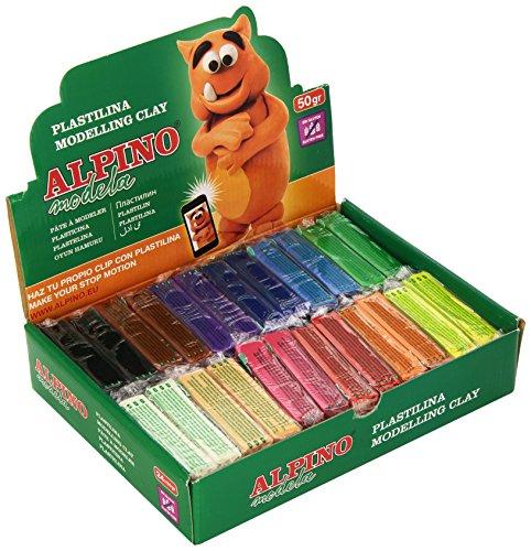 alpino-dp000915-expositor-plastilina-de-24-unidades-50-gramos-colores-surtidos