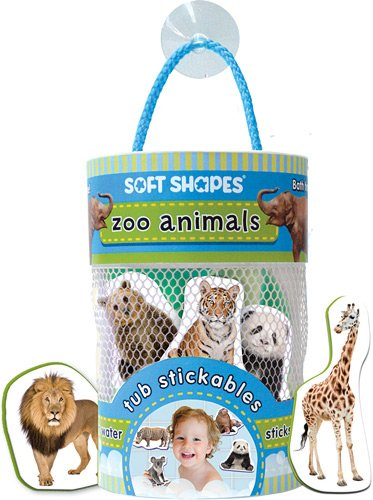 Innovative Kids Soft Shapes Photography Tub Stickables Zoo Animals Playset - 1