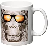 3d Rose Bigfoot In Shades Or Sasquatch Is Pictured In Style Wearing Sunglasses Mug, 11 Ounce