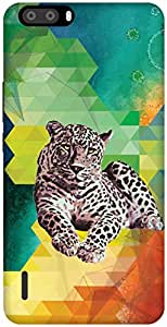 The Racoon Grip A Leopard Never Changes its Fractals hard plastic printed back case / cover for Huawei Honor 6 plus