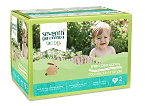 Seventh Generation Free and Clear Baby Diapers, Stage 2