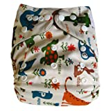 Ecoable All-In-One Bamboo Inner Cloth Diaper/Sewn-In Insert, ABC Pets