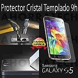 Protector pantalla cristal templado para SAMSUNG GALAXY S5, film templado, vidrio templado ULTRA RESISTENTE y GRAN CALIDAD de AHORRATECH