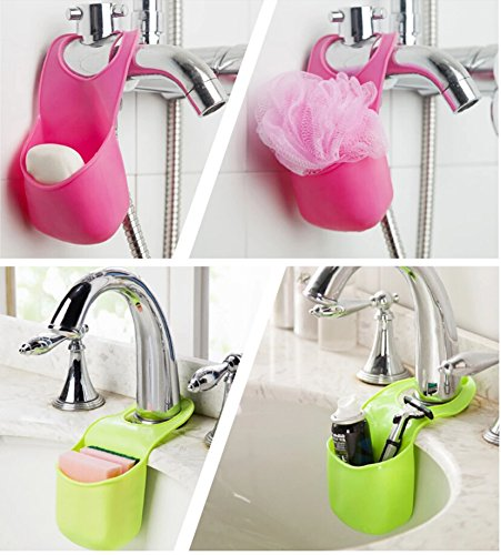 Yixin kitchen bathroom sponge soap water draining hanging for Spong kitchen set 702