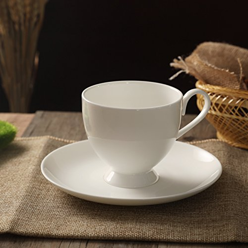 White coffee cup Office Coffee Cup ceramic cups with saucer send scoop,CC-3 (send bends spoons)